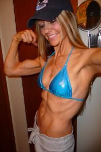 Gina Matthews Blue Bikini shot