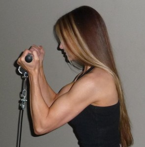Gina Matthews side bicep curl profile