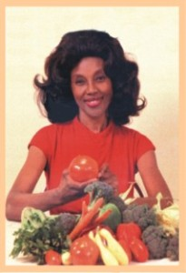 annette with vegetables