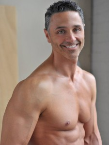 mark martell shirtless and smiling