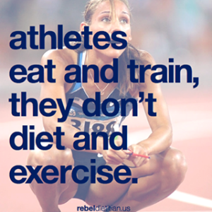 athletes eat and train they don't diet and exercise