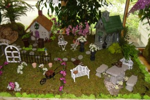 fairy garden cottage village