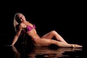 rachel godwin red bikini