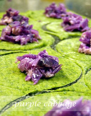 purple cabbage ravioli