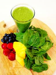 green smoothie with fruit