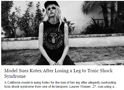 model sues kotex